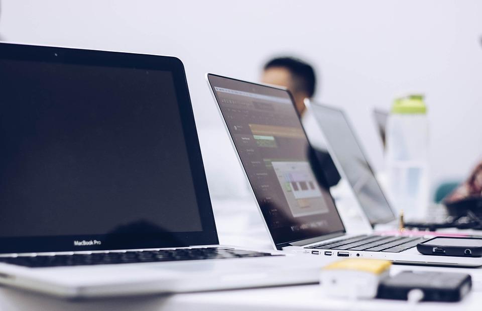 笔记本电脑, 计算机, 苹果, macbook, 房间, 现代, 技术, 电子产品图片