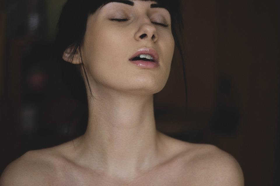 人, 女性, 女の子, 顔, モデル, ヌード, 完璧な, 皮膚, トップレス, セクシーです, 美しさ, 唇