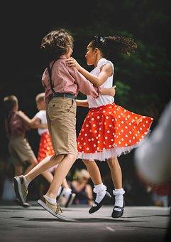 人, 子供, 女の子, 少年, ダンス, 実行します, 芸術, 靴, 履物