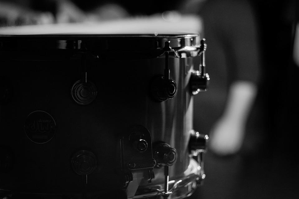 Black And White Drum Set Free Photo On Pixabay