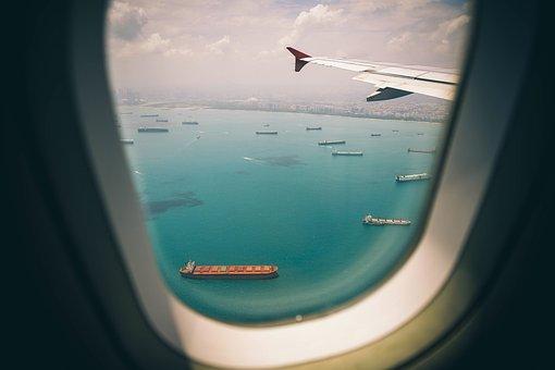 Janela, Avião, Companhia Aérea, Viagens
