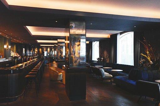 Interior, Diseño, Tablas, Sillas, Bar