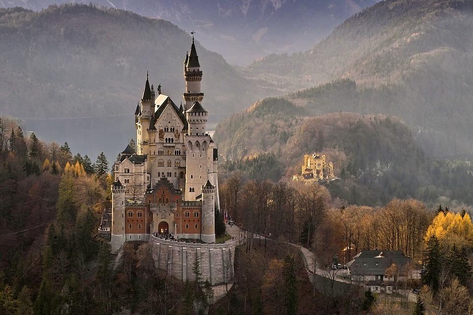 Neuschwanstein, Lâu Đài, Đức, Mốc, Kiến Trúc, Châu Âu