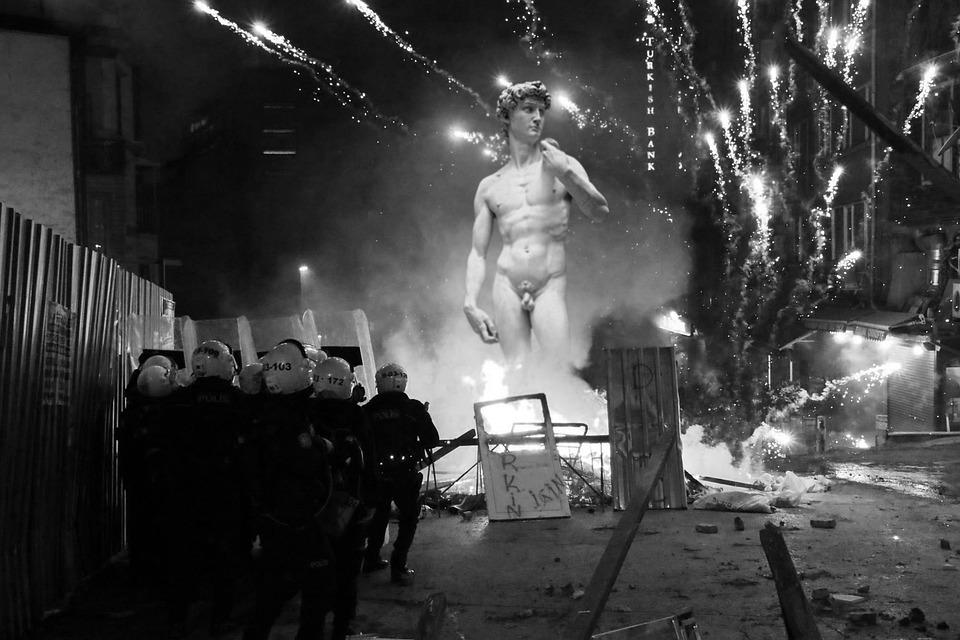 Policja, Wydarzenia, Rewolucja, Oporu, Walka