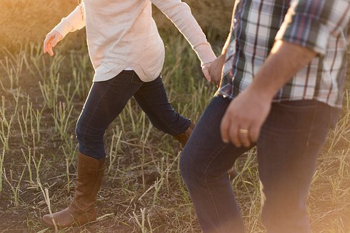 Grass, People, Couple, Man, Woman
