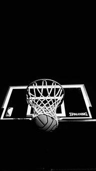 Dark, Ring, Board, Basketball, Ball