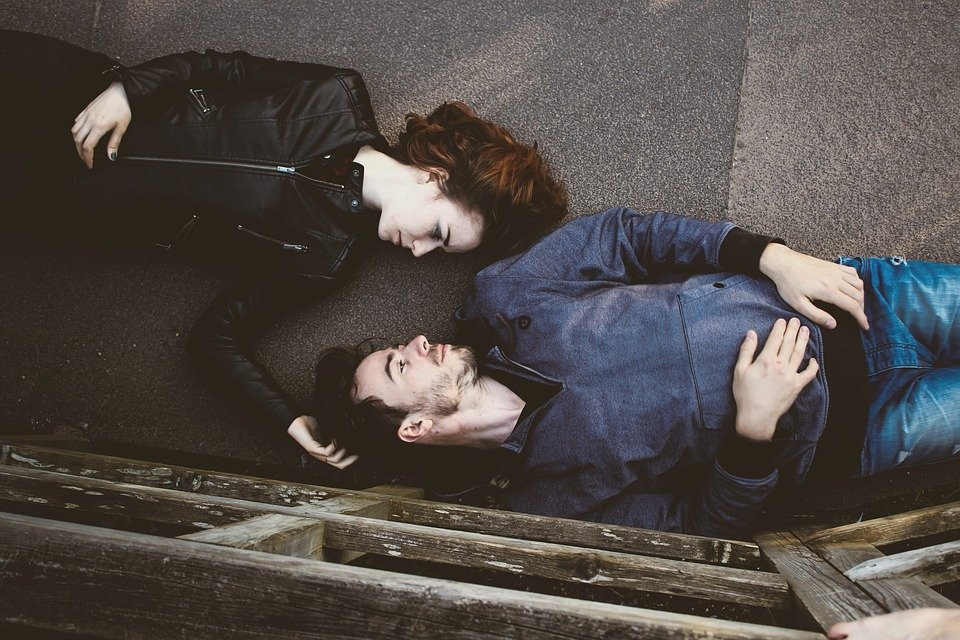 Man and woman on the floor