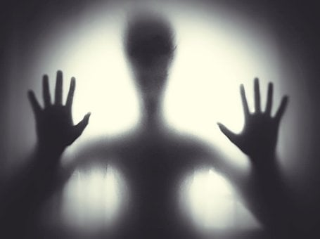 Black And White, Creepy, Ghost, Hand