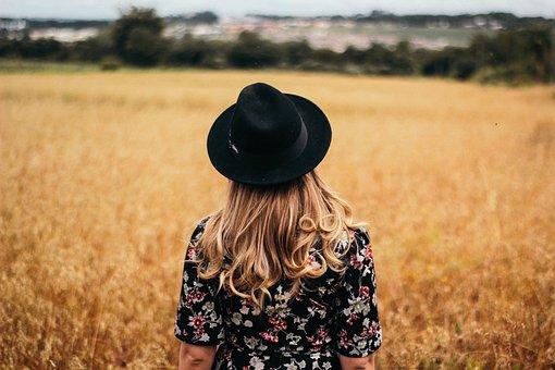 People, Girl, Woman, Alone, Hair, Cap