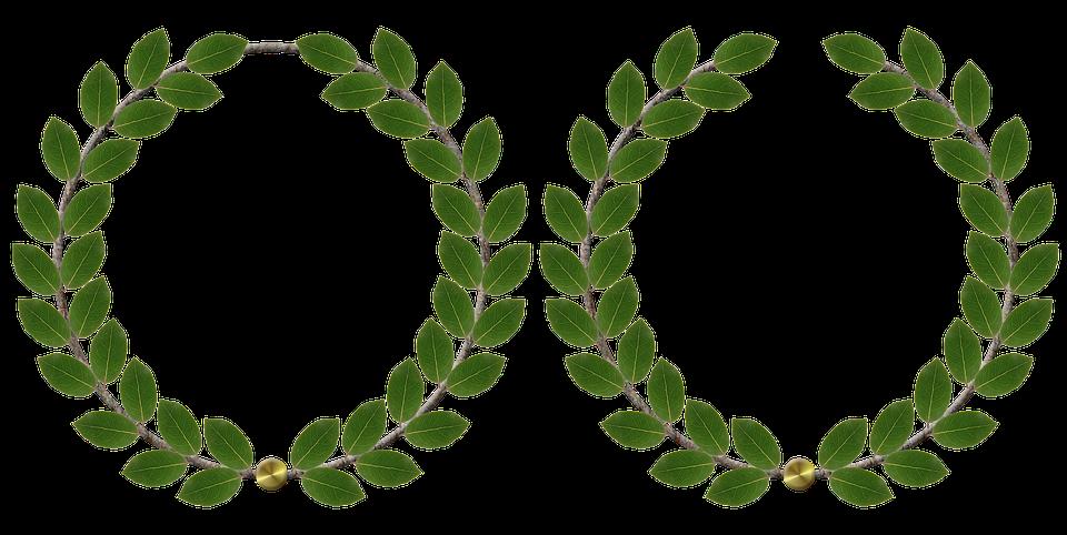 Laurel Leaf Ring Clip Art