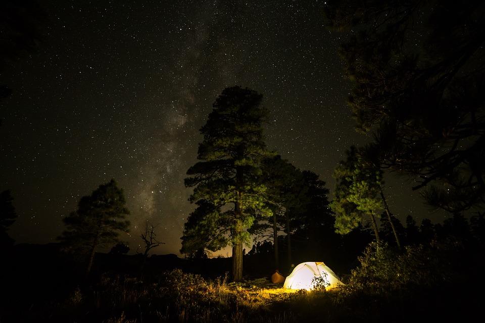 De Viaje, Aventura, Camping, Noche, Oscuro, Estrellas