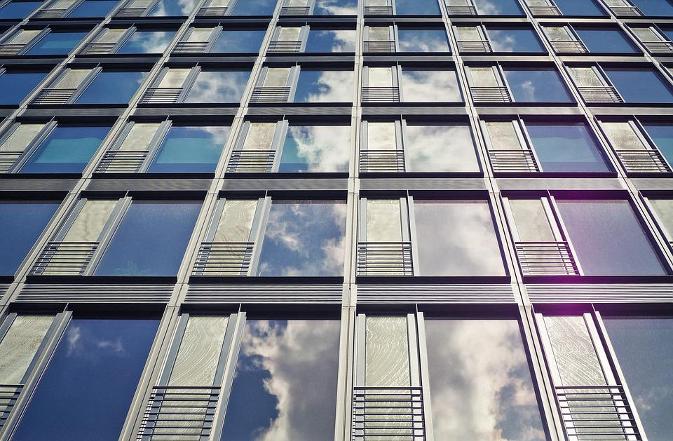 office building facade. Architecture Facade Office Building Modern Window E