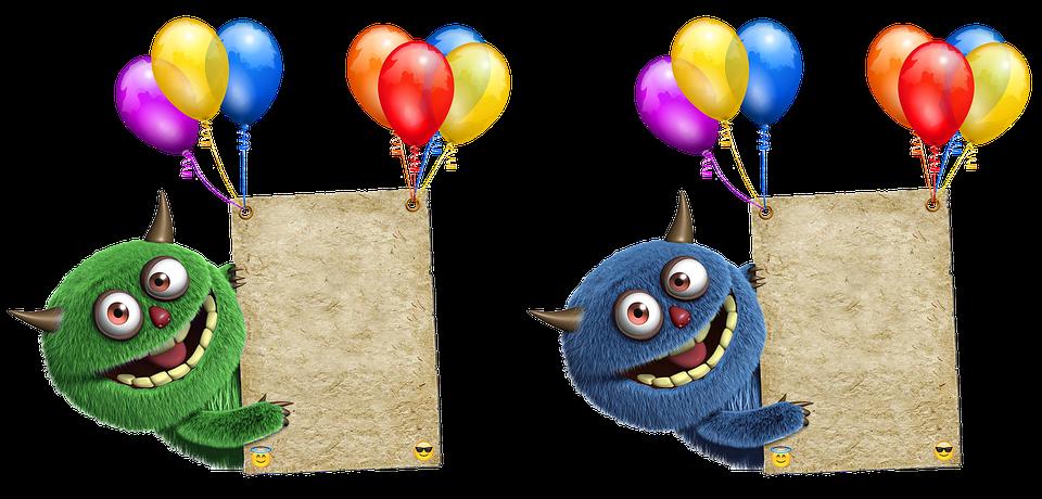 Geburtstagskarte Ballone Farbig · Kostenloses Foto auf Pixabay