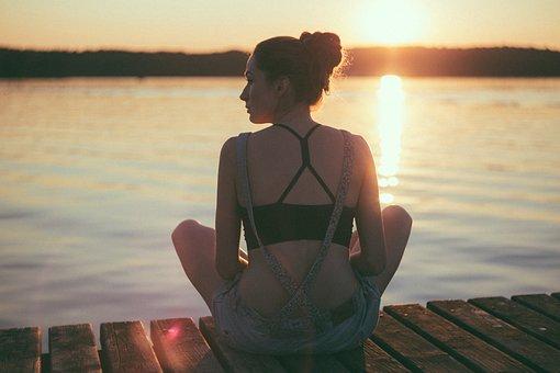 Personas, Niña, Belleza, Meditación