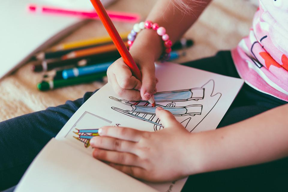 Kid, Child, Baby, Colored Pencil, Color, Drawing Book