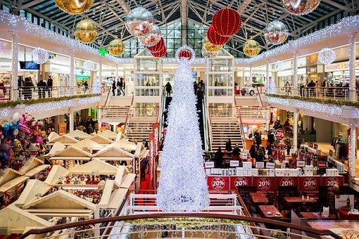 Shopping Mall, Christmas, Christmas Tree