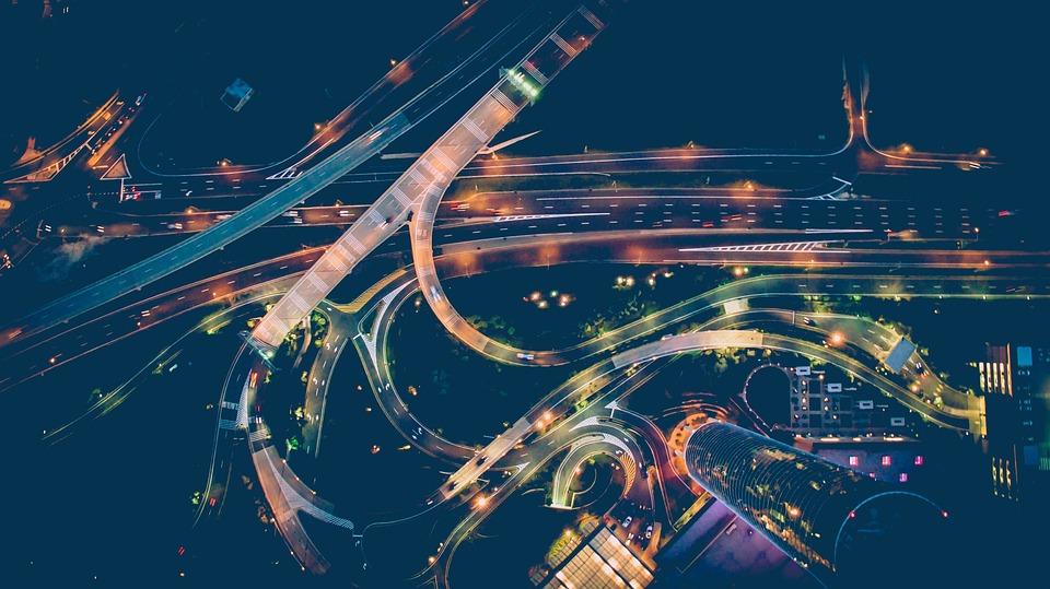 Auto 'S, Snelweg, Street, De Weg, Lucht, Horizon