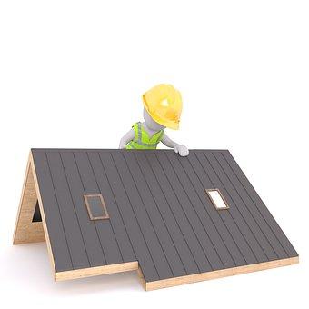 Roof, Roofers, Craftsmen, Helmet