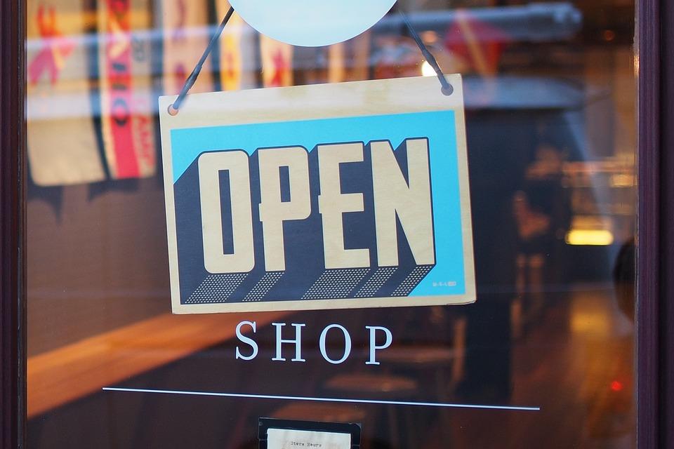 Магазин, Отворен, Пазаруване, На Дребно, Врата