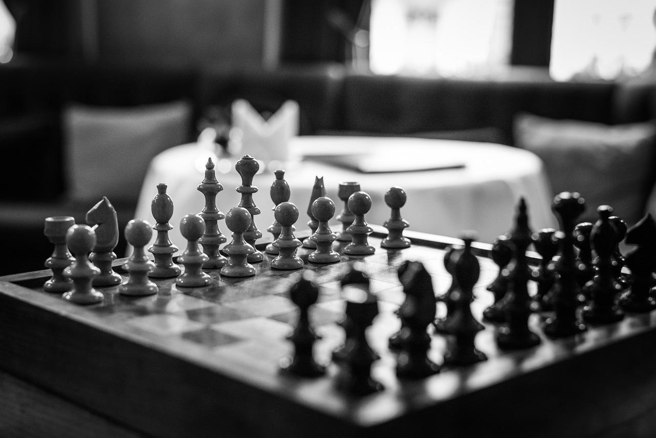 Картинки на шахматную тематику черно белые