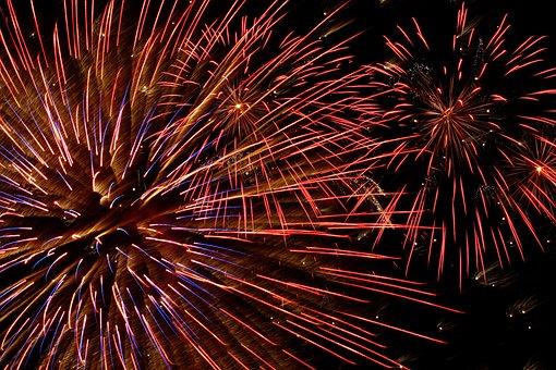 Still, Fireworks, Light, Show, Flames
