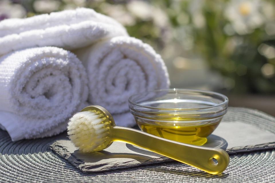 Spa, Salon, Station, Huile, Massage, Brosse, Plaisir