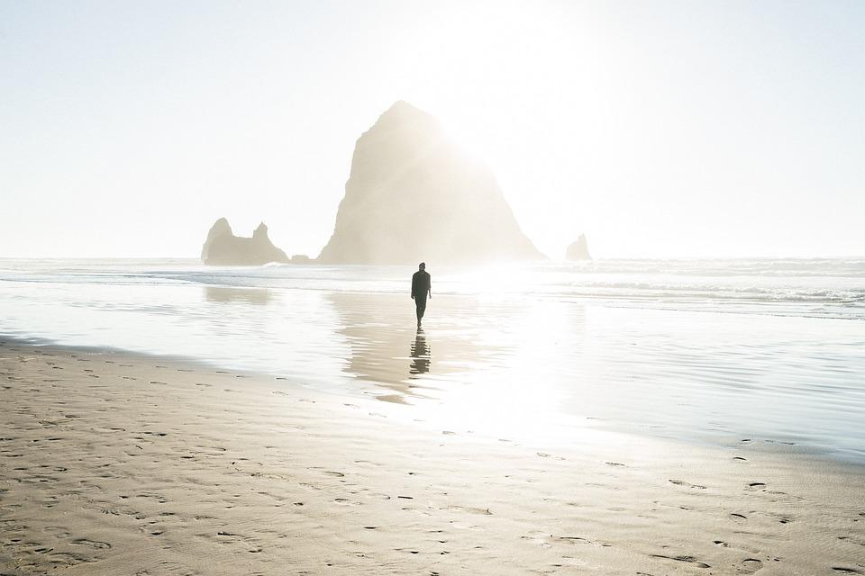 Homem, Masculino, Pessoas, Pé, Praia, Costa, Areia