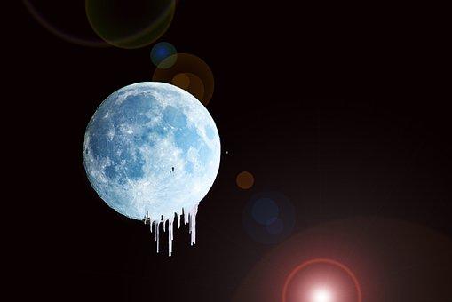 Moon, Night, Sky, Full Moon