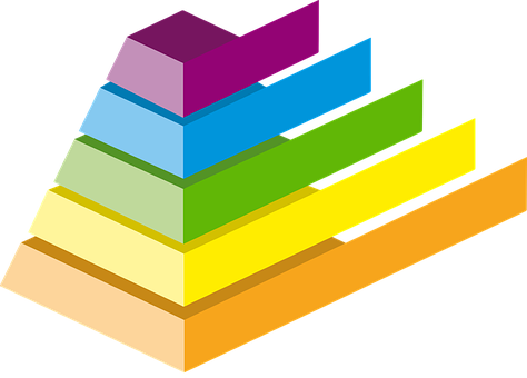 Pyramid, Chart, Colours, Infographic
