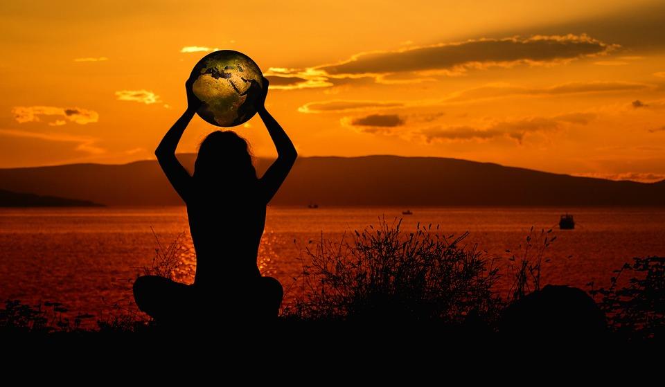 Aarde, Meditatie, Wereld, Ontspanning, Zonsondergang