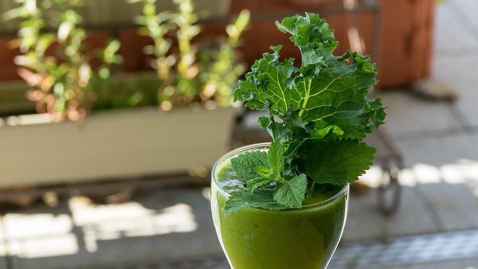 Frullato Verde, Smoothie, Kale, Verde, Sano, Cibo