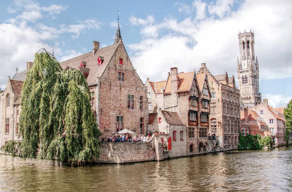 Belfort, Toren, Brugge, Kanaal, Romantische, Historisch