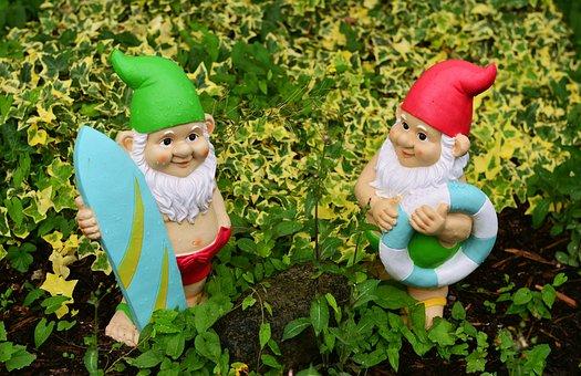 Garden Gnomes, Garden, Figures, Dwarf