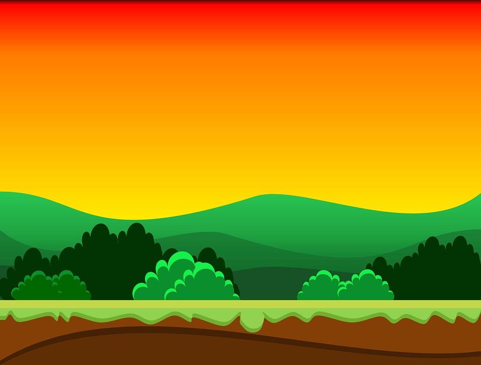 pin house cartoon sunset - photo #7