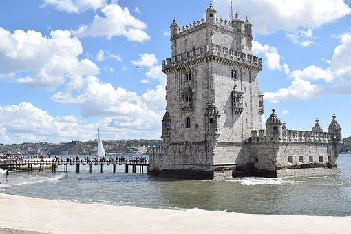 ポルトガル, リスボン, Belim, トレデBelim, 水, ビーチ