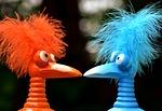 jokers, blue, orange