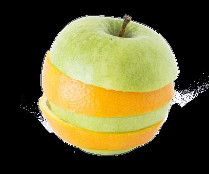Фруктов, Изолированный, Apple, Оранжевый