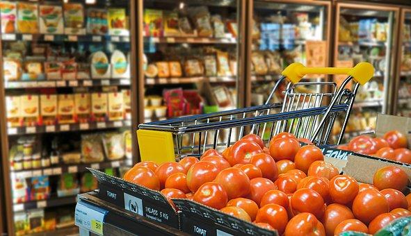 Einkaufen, Geschäft, Gemüse, Tomaten