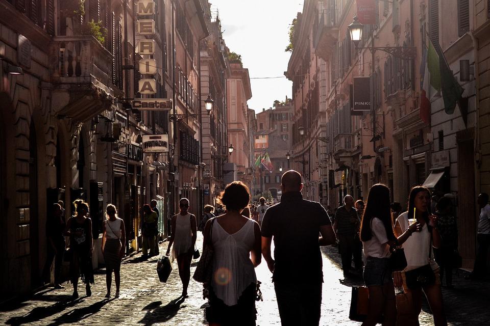 Hombre, Mujer, Personas, Turistas, Caminar, Paseo