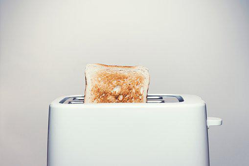 Toaster, Toast, Bread, Food