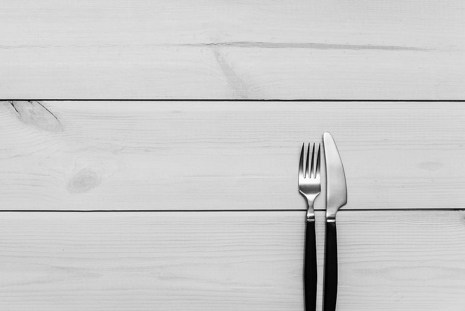 Kitchen Table Wood Fork Knife