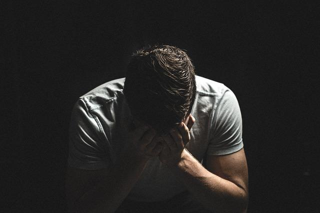 男, 人, 暗い, シャドウ, 手, 悲しい, 泣いている, 不幸です, 絶望