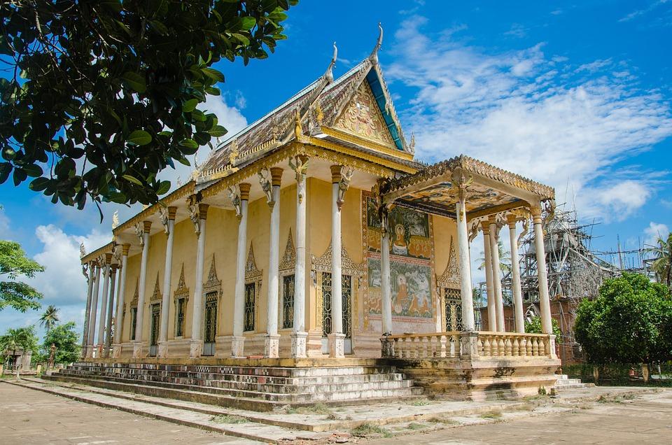 Pagoda Asian Cambodia Temple Architecture Building