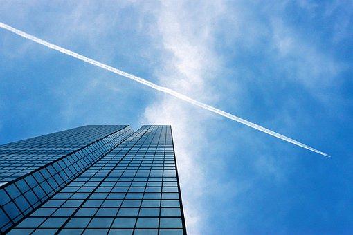 青, 空, 雲, 建物, 窓, ビジネス, 企業, アーキテクチャ, 市, 都市