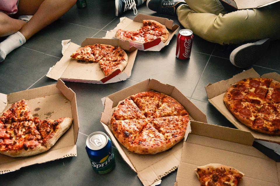 Pizza, Cassette, Soda, Pop, Bevande, Sprite, Coca Cola