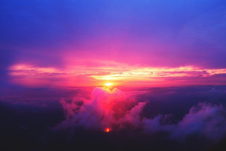 Free Photo Sunset Dusk Sky Purple Pink Free Image