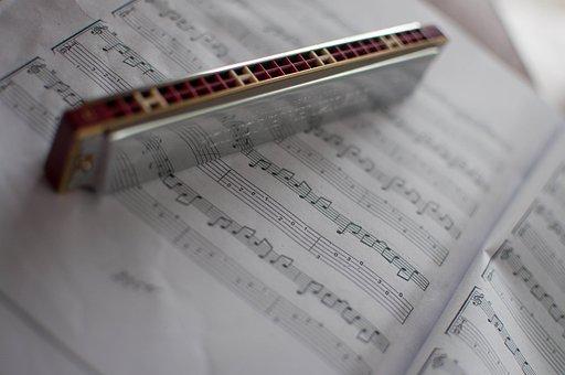 ハーモニカ, 音楽, ノート, 本, グレーの著書, グレーの音楽