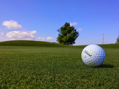 Titleist, Golf, Ball, Green, Grass