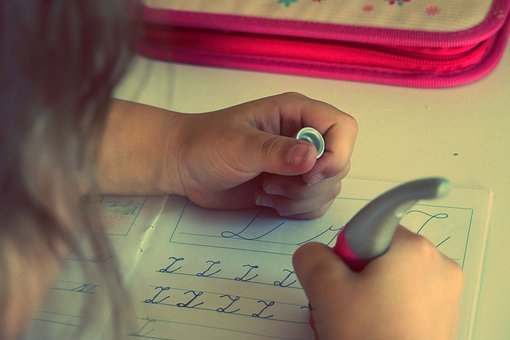 Child, Kid, Writing, Homework, Letters