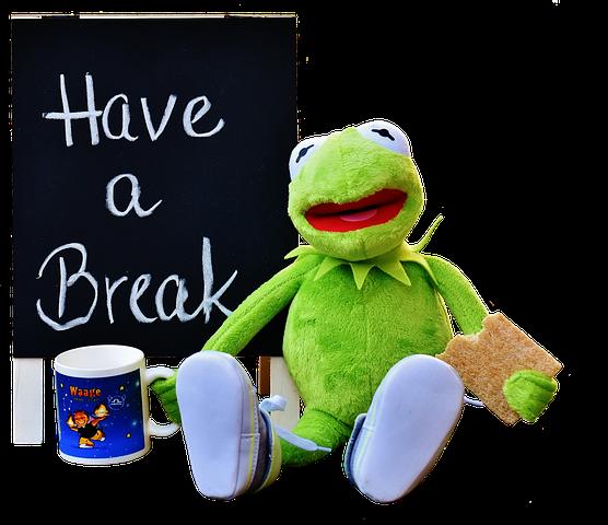 Kermit, Kop, Drikke Kaffe, Pause